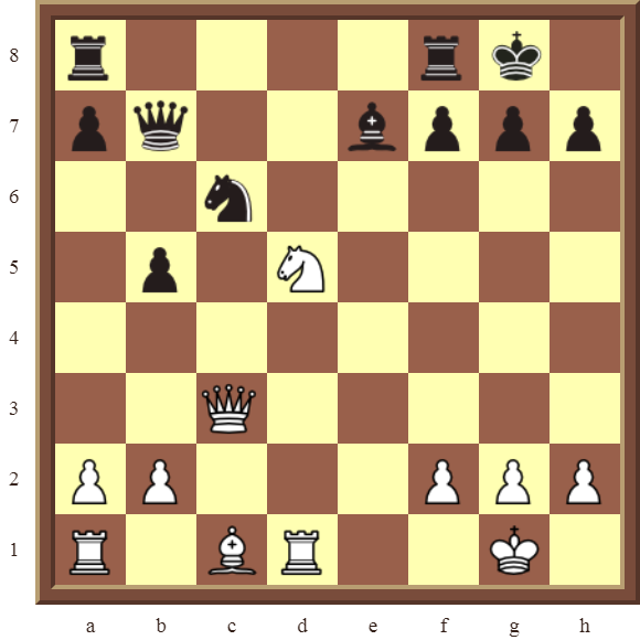 KNIGHT FORKS: Diagram 86  – White wins the black Knight & Bishop in 3 moves.