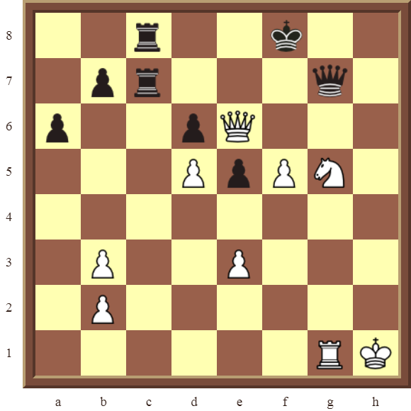 KNIGHT FORKS: Diagram 88  – White wins the black Rook on c8 in 3 moves.