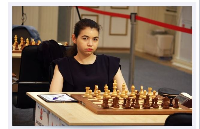 Aleksandra Goryachkina makes a point Round 9 at 2019 Russia Championship
