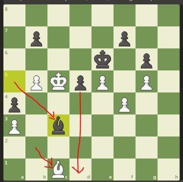 Move 63 for Black Bc3 wins