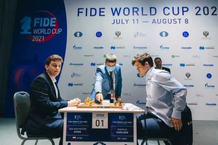 Duda versus Carlsen at 2021 FIDE World Cup
