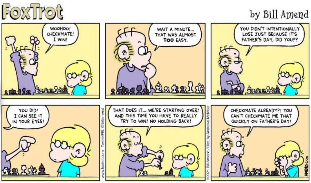 FoxTrot Comic Checkmate by Son on Father's Day