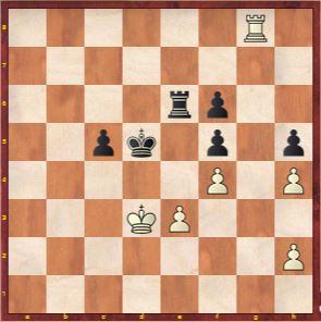 Game 10 Position after Ju Wenjun traded Bishops and centered her King 45. ...Kd5