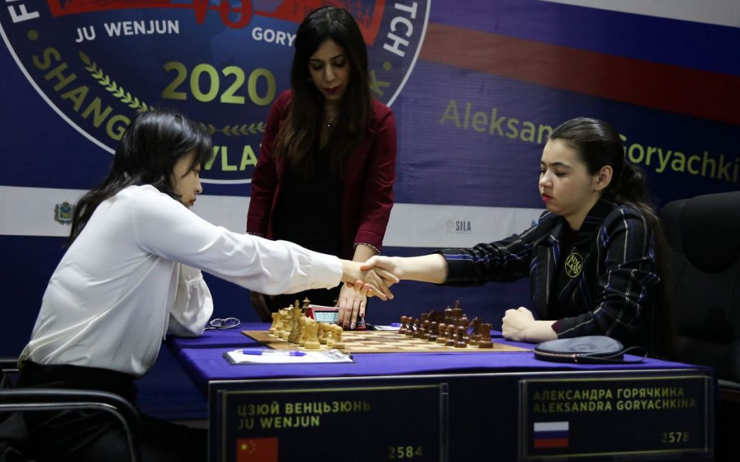Game 11 a Draw!  Aleksandra now needs a win to force Tiebreak format in 2020 Women's World Chess Championship 12-game match!