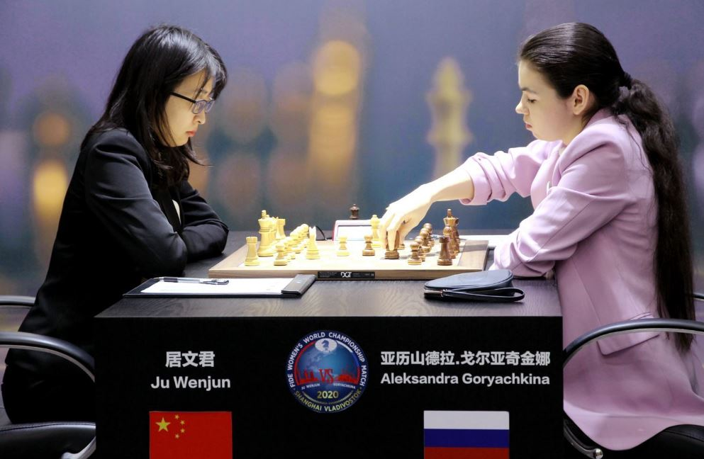2020 Women's World Chess Championship Now! – Game 2 is a quiet threefold repetition draw!