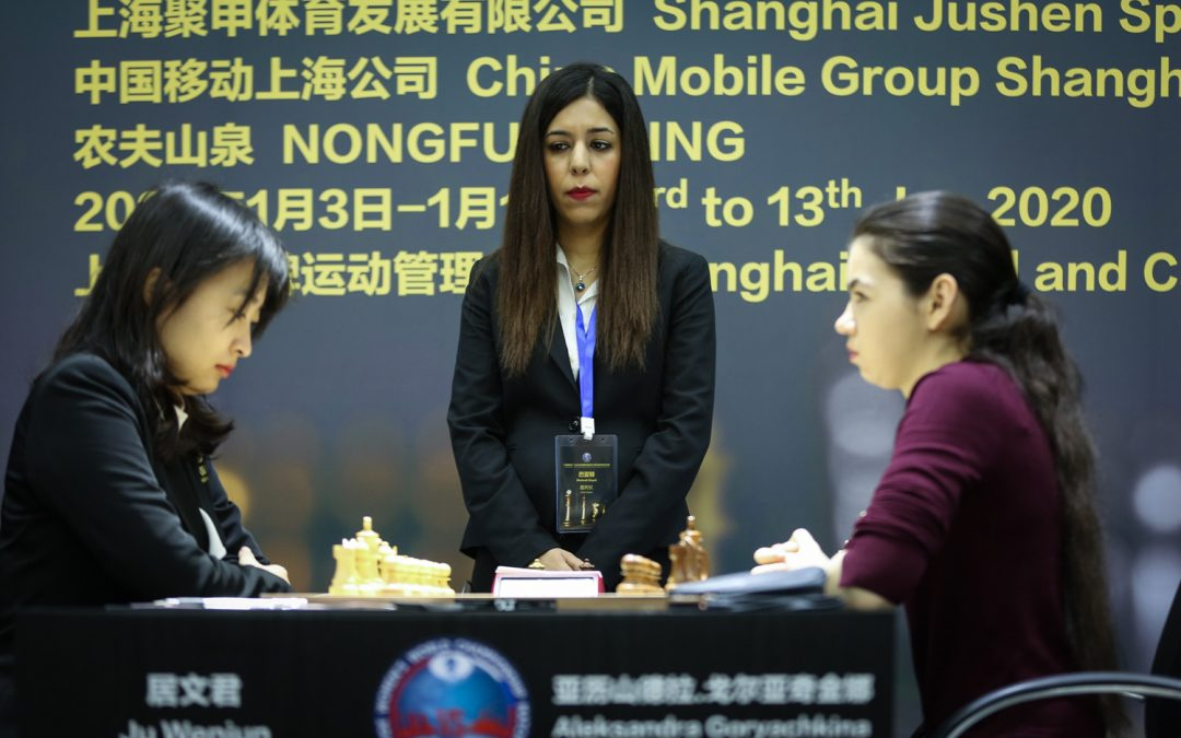 Game 6 of Women's World Chess Championship ends in a 105-move draw! – Match moves to Russia now.