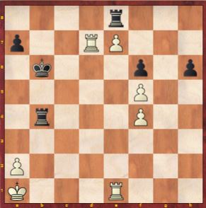 Game 8 Move 45 Aleksandra plays Rook e1, Ju Wenjun resigns at the Women's World Chess Championship