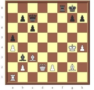 Jennifer Yu to checkmate in 3 moves diagram.