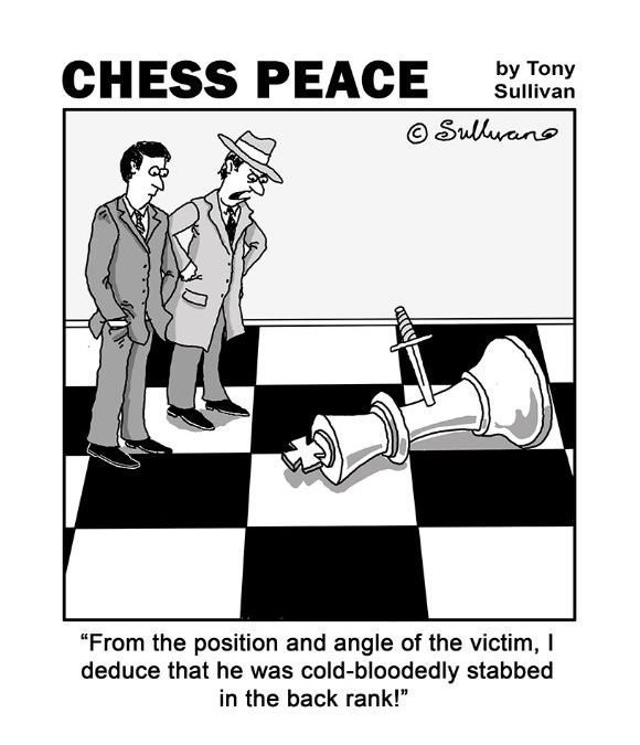 """Murder on the Back Rank!"" -from new ""CHESS PEACE"" Book"