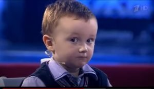 Misha Osipov 3 years old eyes looking at camera