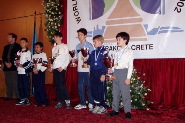 Nepo beats Carlsen in 2002 World Chess Championship U12
