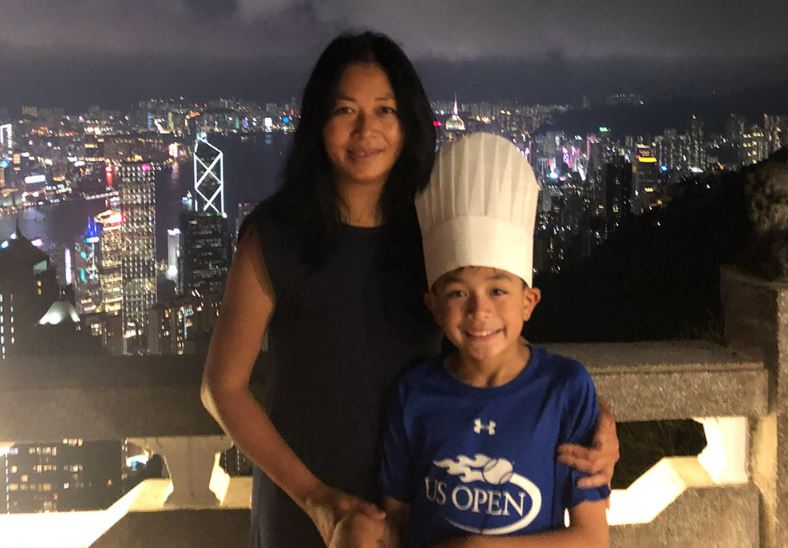 Oliver Boydell and his Vietnamese mother