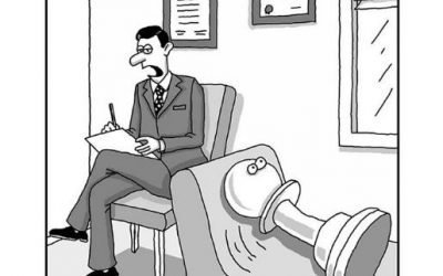 """A Pawn on the Psychiatrist Couch! -from Tony's new """"CHESS PEACE"""" Book"""