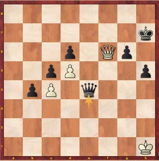 Position after Carissa plays 45 ... Qxf4+