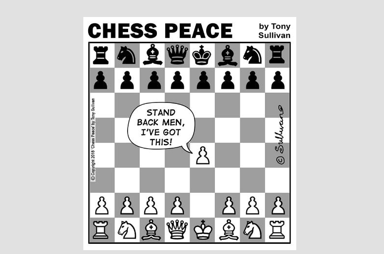 """Stand Back, Men!"" -from New ""CHESS PEACE"" Book"