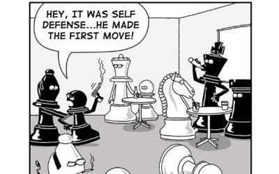 """""""It Was Self-Defense!"""" -from new """"CHESS PEACE"""" Book"""
