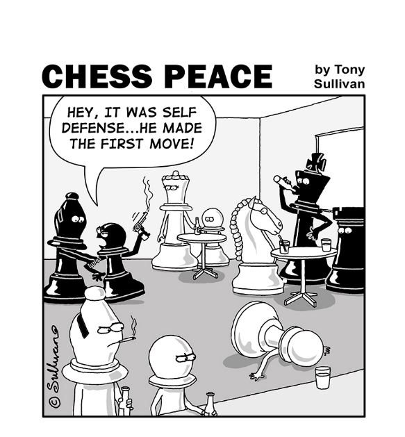 """It Was Self-Defense!"" -from new ""CHESS PEACE"" Book"