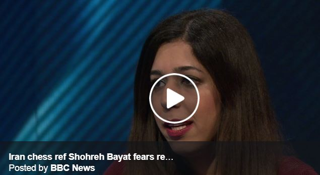 Shohreh Bayat video without hijab crying in BBC interview
