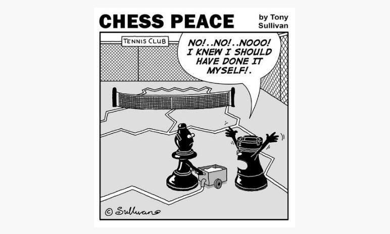 """CHESS PEACE"" cartoon book by Tony Sullivan published! On Sale Now!"