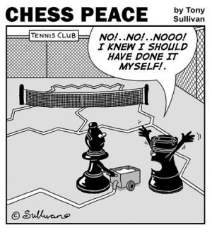 A Tennis Court Bishop! -from CHESS PEACE Book