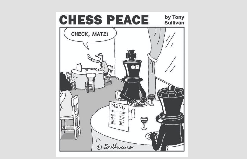"""Check, Mate!"" -from Tony Sullivan's ""CHESS PEACE"" Book"