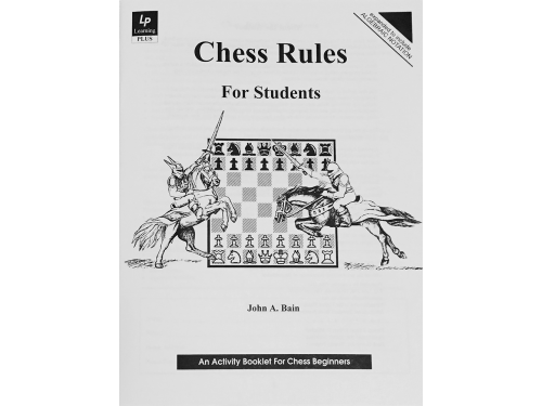 Chess Rules For Students workbook.