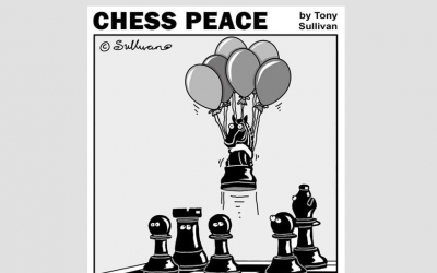 """""""Dark Knight Rises!"""" -from New """"CHESS PEACE"""" Book"""