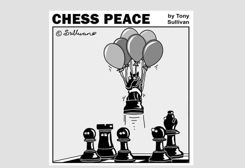 """Dark Knight Rises!"" -from New ""CHESS PEACE"" Book"