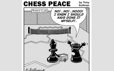 """""""A Tennis Court Bishop!"""" -from """"CHESS PEACE"""" Book"""